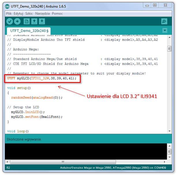 ARDUINO + LCD 3 2